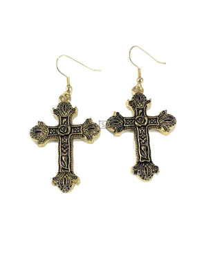 Rose Cross Earrings - Stinnys