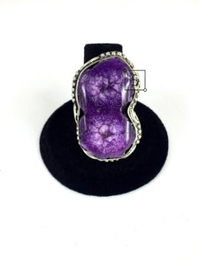 Double Purple Agate Stone Ring - Stinnys