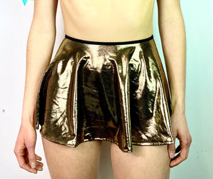 Metallic Metal Tie Skirt