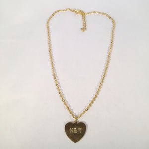 Initial Heart Plate Necklace - Stinnys