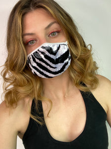 Marked Up Zebra Dust Mask.