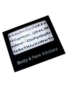 Alphabet Letter Body & Face Stickers