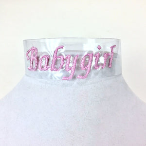 Lets Be Clear Custom Embroidered Choker.
