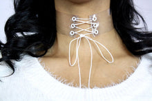 Clearly Laced Up Choker - Stinnys