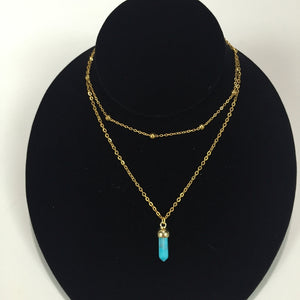 Cadence Crystal Stone Necklace.