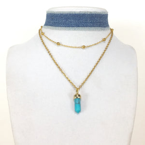 Cadence Crystal Stone Necklace - Stinnys