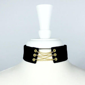 Arleigh Chain Lace Choker.