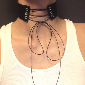Incandessa Lace Up Choker.