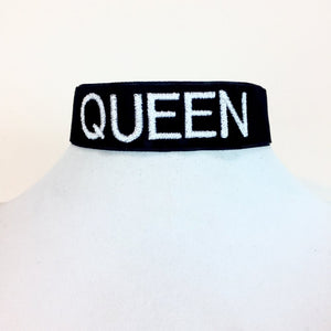Thick Band Custom Embroidered Choker - Stinnys