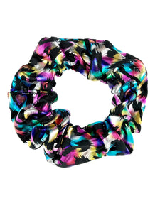 Rainbow Jaguar Scrunchie