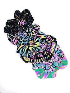 X Celled Reflective Scrunchie