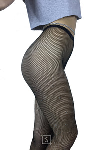 Rhinestone Fishnet Stockings - Stinnys