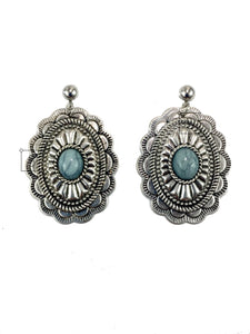 Turquoise Concho Earrings - Stinnys