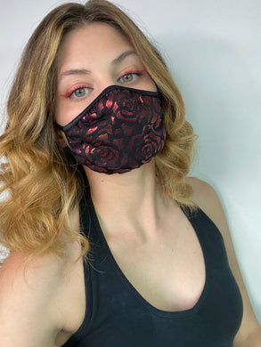 Red Rose Mouth Mask.