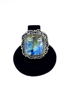 Square Labradorite Ring.