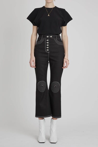 Orphism Crop Kick Flare Black