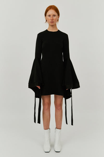 BLACK NEMESIS FLARE SLEEVE DRESS