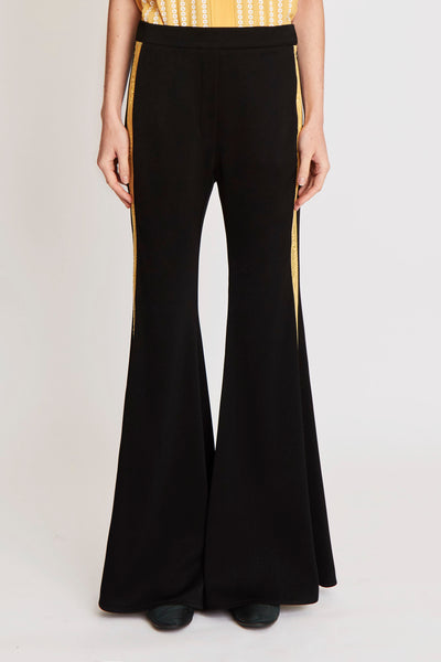 Life Gate Side Tape Flare Pant Black