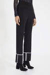 Bembe Turn Up Cuff Pants Black with White