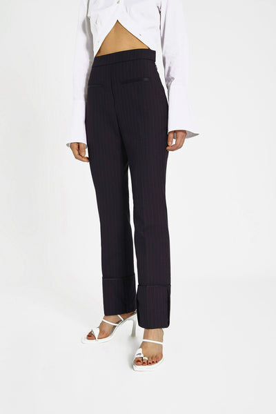 Bembe Turn Up Cuff Pants Black