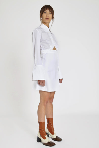 Double Helix Dress White