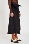 Endgame Trench A-Line Skirt Black