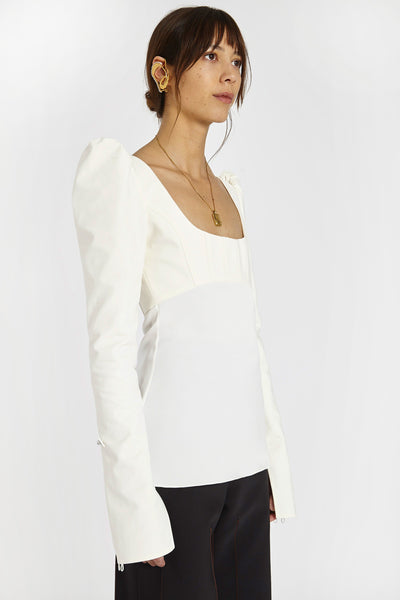 Expolio Puff Sleeve Top Ivory