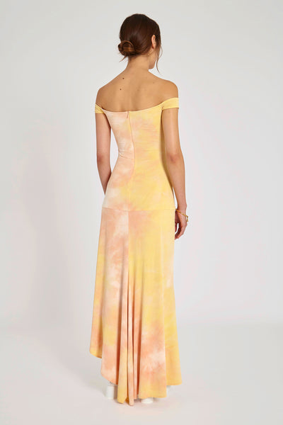 Odilon Off Shoulder Dress Peach