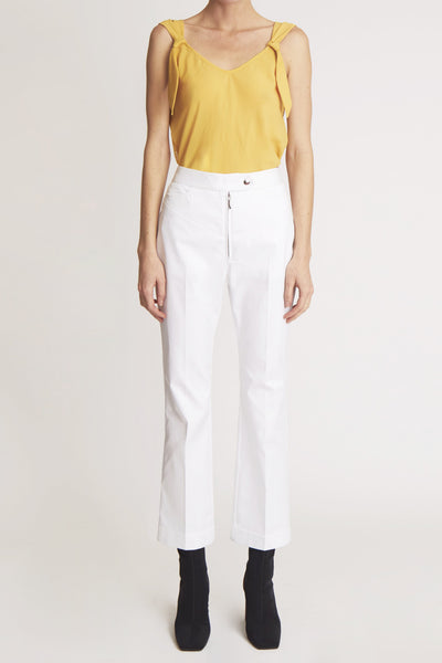 Orthodox Tailored Pant W Denim Details White