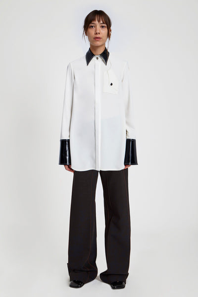 Thesis Contrast Collar Blouse