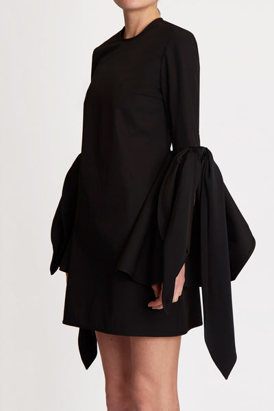 Dogmatism Scarf Flare Dress Black