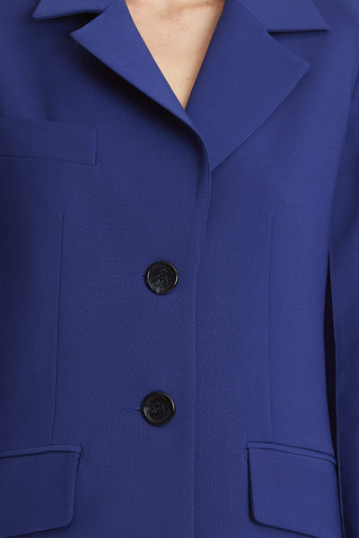 Vascular Square Jacket Blue
