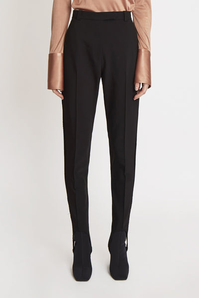 Cassandra Carrot Pant Side Trim Black