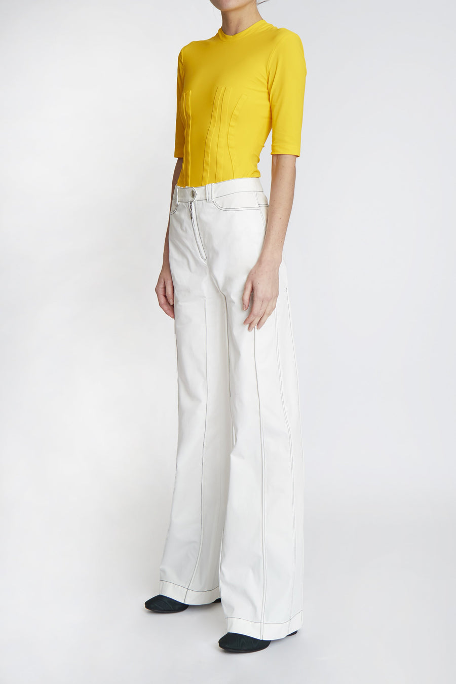 Bromide Square Pant White