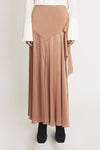 Faintest Sound Assymetrical Midi Skirt Tan