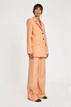 Vascular Square Sleeve Jacket Peach