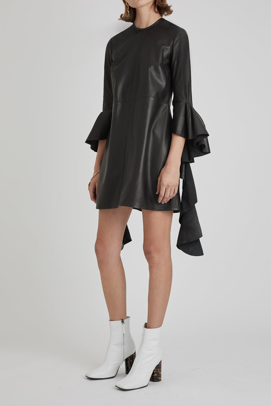 Kilkenny Frill Sleeve Mini Dress Black