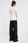Erratum Placket Rib Top White