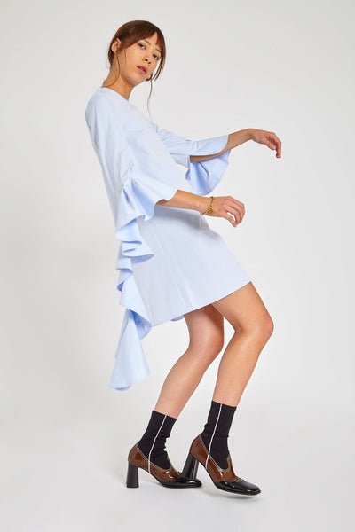 KILKENNY DRESS IN SHIRTING BLUE