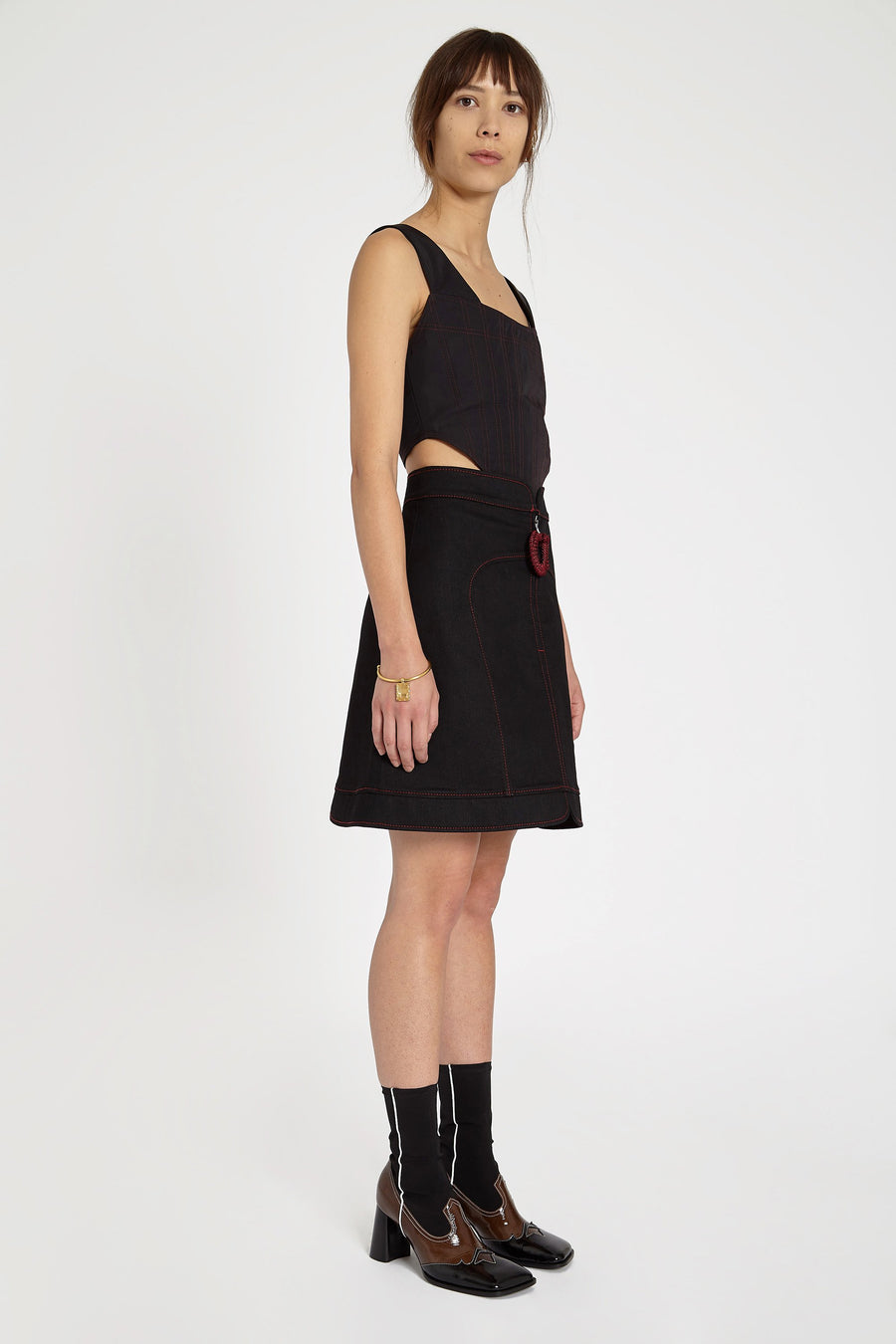 Nucleus Crochet Puller Skirt Black