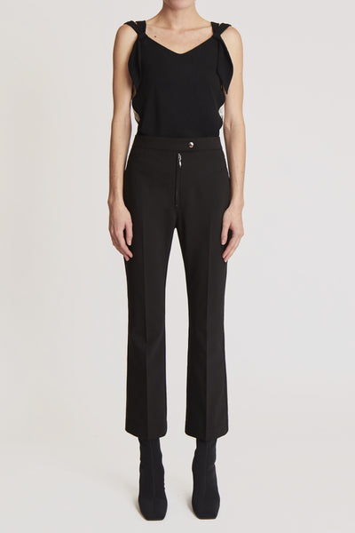Orthodox Tailored Pant W Topstitch Details Black