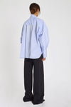 Richter Drape Front Top Blue
