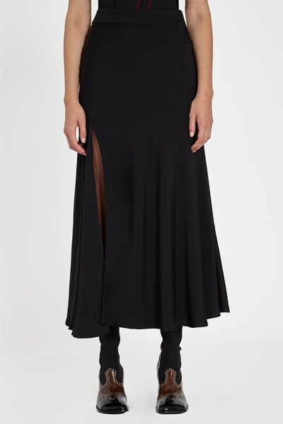 Suite One Bias High Slit Skirt