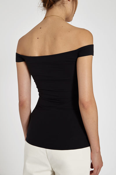 Yandex Off Shoulder Corset Top Black