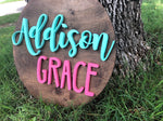 "18"" Round Name Sign - the-beautiful-birch"