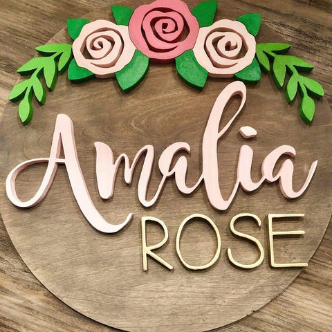 "18"" Rose Arch Sign - the-beautiful-birch"