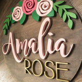"18"" Rose Arch Sign - The Beautiful Birch"