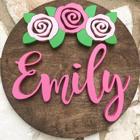 "18"" Rose Set Sign - the-beautiful-birch"
