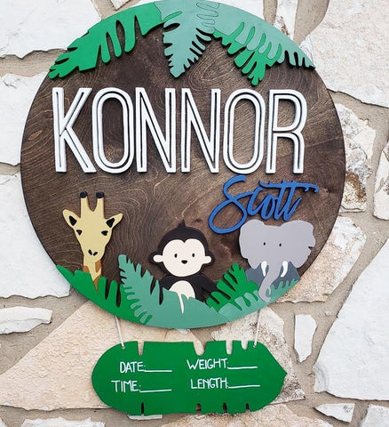 "23"" Monkey Safari Sign"
