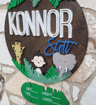 "18"" Monkey Safari Sign"